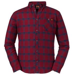 Schöffel Gateshead LS-skjorte Herrer, rød/blå